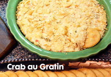 crab au gratin big game recipe
