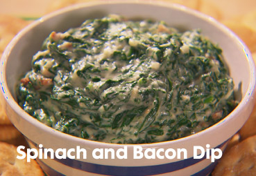 ritz crackers spinach bacon dip recipe